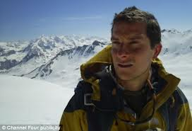 Bear Grylls prepared for an afternoon at Cliftonhill