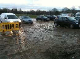 Whilst not actually being the soggy Loch Lomond car park, this snap shows very well how it looked