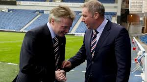 Messrs Whyte and McCoist in happier and less tempestuous times