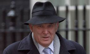Mr Cable tries to hide from his error, but his hat fails to do the job
