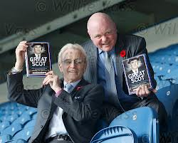 David Leggat (right) promoting his new book at Ibrox